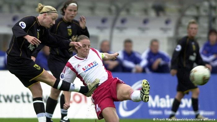 FFC Frankfurt playing in the UEFA Women's Cup