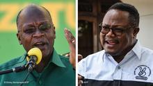 Bildkombo Tansania Wahlen | Präsident John Magufuli und Tundu Lissu