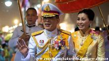 Thailand | König Maha Vajiralongkorn und Königin Suthida (Wason Wanichakorn/dpa/picture-alliance)