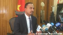 Gizachew Muluneh, Director of Amhara Regional state communication affairs Copyright: Alemenew Mekonnen, DW.