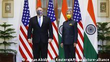 Indien | Neu Delhi | Außenministertreffen | |Mike Pompeo (l) und Subrahmanyam Jaishankar