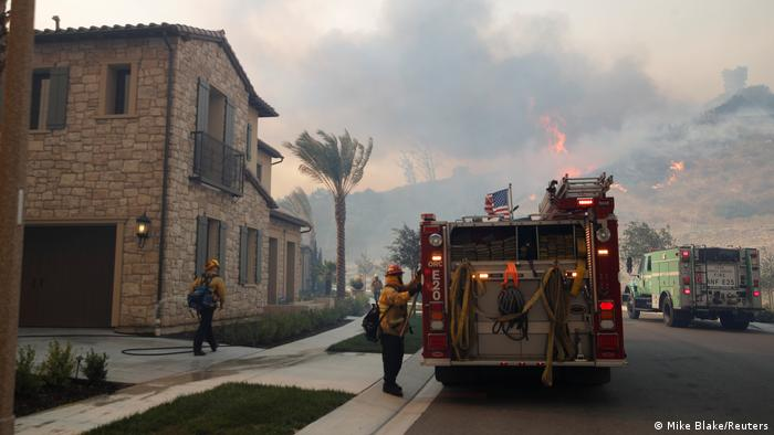USA Silverado-Feuer nahe Irvine in Kalifornien (Mike Blake/Reuters)