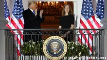 USA | Donald Trump und Amy Coney Barrett (Jonathan Ernst/Reuters)