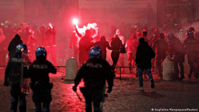 BG Europaweite Anti-Lockdown Proteste (Guglielmo Mangiapane/Reuters)