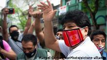 Bolivien Präsidentschaftswahlen Evo Morales (Manuel Cortina/NurPhoto/picture-alliance)