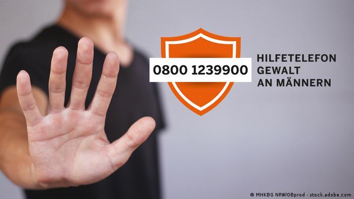 Advertisement for the helpline