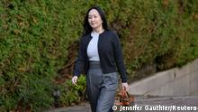 Huawei Technologies Chief Financial Officer Meng Wanzhou leaves her home to attend a court hearing in Vancouver, British Columbia, Canada October 26, 2020. REUTERS/Jennifer Gauthier