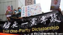 Hongkong Pro-Demokratie Aktivisten