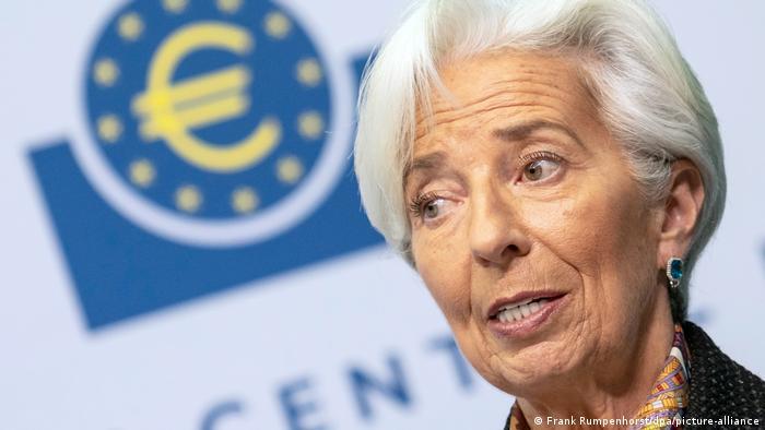 Deutschland Frankfurt   Präsidentin EZB   Christine Lagarde