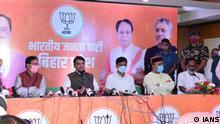 Indien Bihar | Pressekonferenz | Devendra Fadnavis