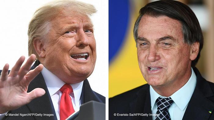 Os presidentes dos EUA, Donald Trump, e do Brasil, Jair Bolsonaro, optaram por ignorar alertas de saúde da OMS
