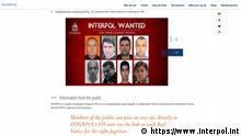 Screenshot Website Interpol