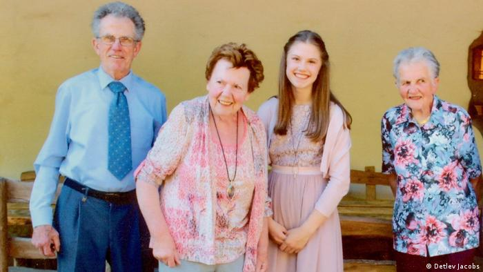 Renate Jacobs and her family