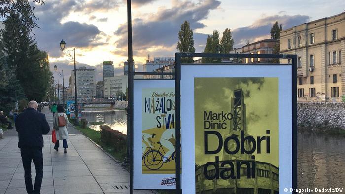 """""""Dobri dani"""" pored Miljacke: reklama za roman Marka Dinića u Sarajevu"""