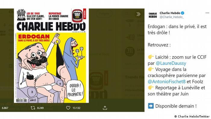 Новият брой на Шарли Ебдо – скрийншот на корицата