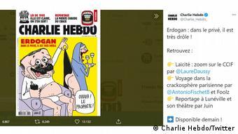 Νέα ένταση μεταξύ Γαλλίας και Τουρκίας με αφορμή τα σκίτσα του Charlie Hebdo