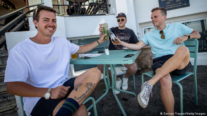 People enjoy a drink at The Esplanade Hotel in St Kilda