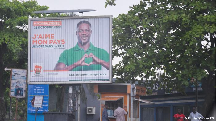 Plakat der Wahlkommission der Elfenbeinküste