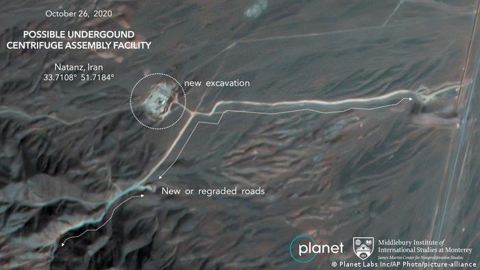 تصویر ماهوارهای از ساختوسازهای جدید در حوالی نطنز