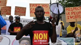 Manifestants contre un troisième mandat du président Ouattara