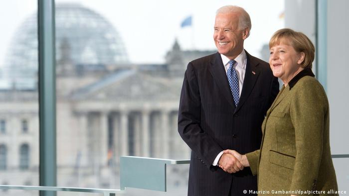 Joe Biden ve Angela Merkel