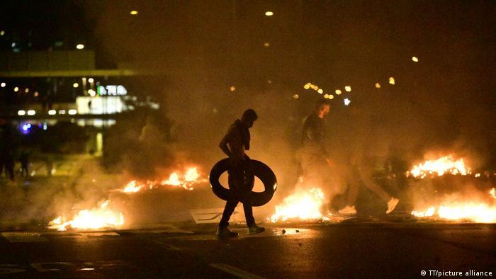 Schweden Malmö Unruhen nach Koranverbrennung (TT/picture alliance)