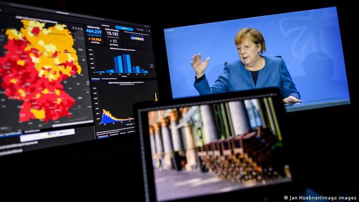 Berlin Kanzlerin Merkel PK zu Corona-Maßnahmen (Jan Huebner/imago images)
