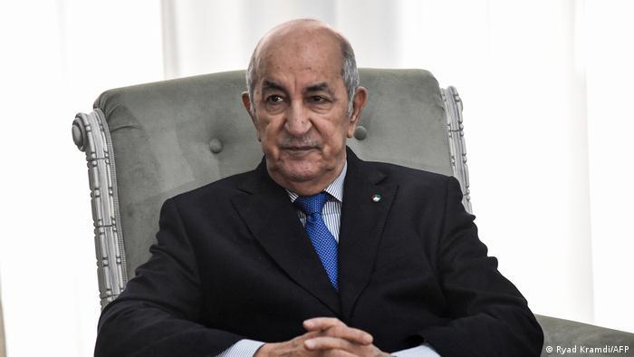 Algerien Präsident Abdelmadjid Tebboune (Ryad Kramdi/AFP)