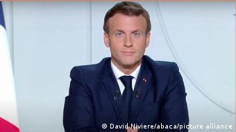Frankreich Präsident Macron   Rede an die Nation