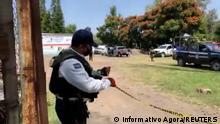 Mexiko I Symbolbild I Tatort in Guanajuato (Informativo Agora/REUTERS )