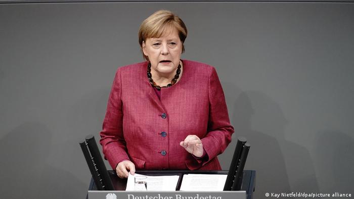 Deutschland Merkel Regierungserklärung Coronavirus Bundestag
