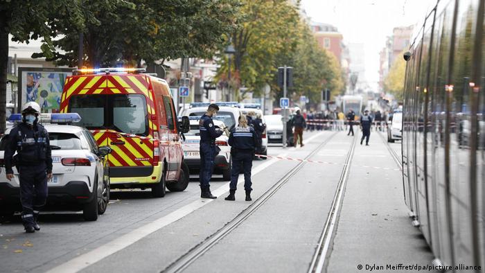 Frankreich Nizza | Messerattacke | Ermittlungen (Dylan Meiffret/dpa/picture alliance)