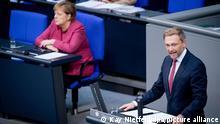 Deutschland Christian Lindner Regierungserklärung Coronavirus Bundestag