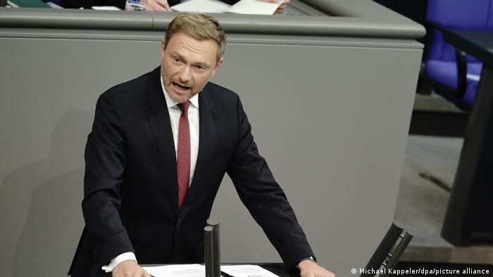 Преседатель СвДП Кристиан Линднер в бундестаге