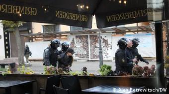 Задержание участников акции протеста в Бресте