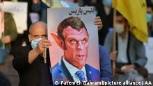 Iran Protest gegen Frankreich und Macron