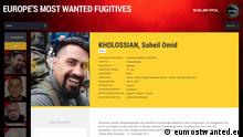 Soheil Omid Kholossian - wegen Vergewaltigung durch Europol gesucht (eumostwanted.eu)