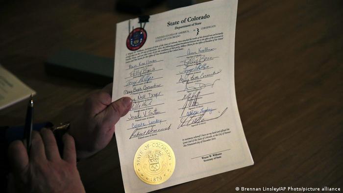 USA Colorado | Zertifikat des Electoral College