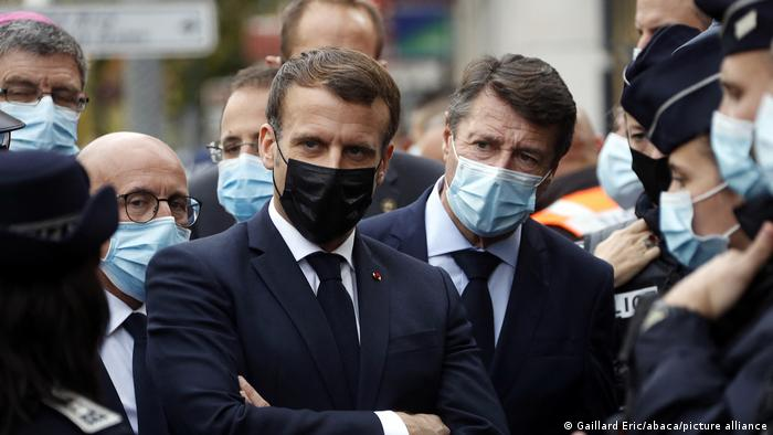 Frankreich Nizza | Messerattacke | Präsident Emmanuel Macron