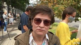 Философ Ольга Шпарага, представительница Координационного совета белорусской оппозиции