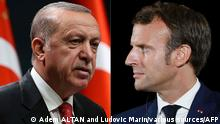 Recep Tayyip Erdogan and Emmanuel Macron side by side (Adem ALTAN and Ludovic Marin/various sources/AFP)