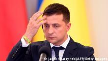 Ukraine Präsident Wolodymyr Selenskyj | Mimik