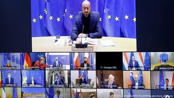 EU-Videogipfel zur Corona-Pandemie