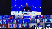 Europäischer Rat - EU-Gipfel per Videoschalte zur Coronakrise (EbS EU AV Service)
