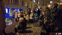 Belarus Veranstaltung gegen Lukaschenko im Innenhof in Minsk