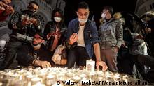 Frankreich Messerattacke in Nizza Trauer (Valery Hache/AFP/dpa/picture-alliance)