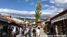 Das alte osmanische Stadtzentrum Bascarsija Sarajevo. Foto: Dragoslav Dedovic/DW