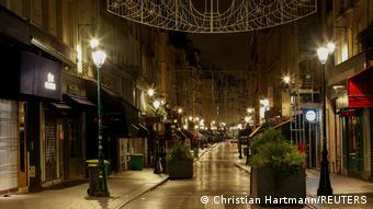 Опустевшие улицы Парижа