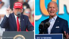 Kombobild | Donald Trump und Joe Biden