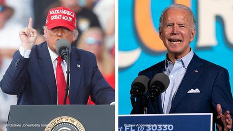 Kombobild   Donald Trump und Joe Biden